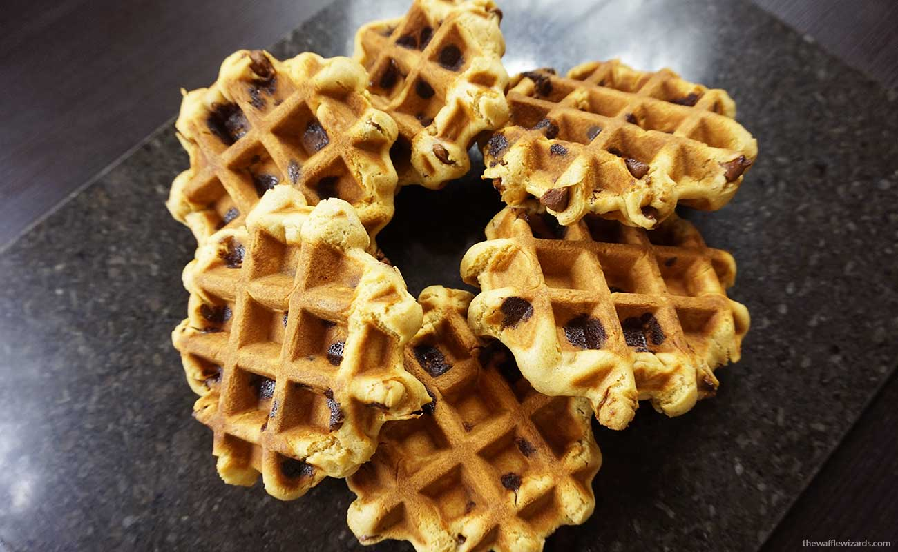 Choc Chip Waffle Cookies