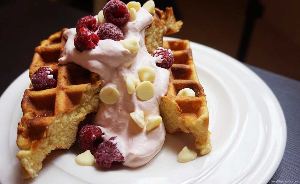 Raspberry White Chocolate Waffles