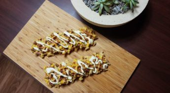 Sweet Corn and Chorizo Waffles with Aioli Sauce