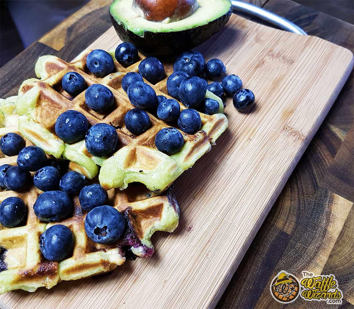 Blueberry Avocado waffles